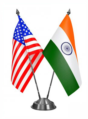 Shipping to India USA and Indian Flag.